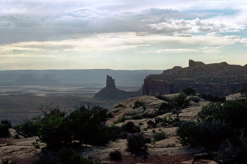 On Grand View Point Road, Island in the Sky District, Canyonlands National Park, 1978.