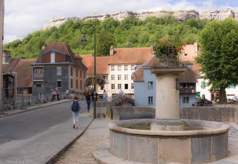 Ornans i Jura - med Corbets museum