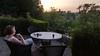 Sidste aftenkaffe på terrassen...
