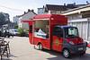 Denne søde cafébil står ved stationen i Dole