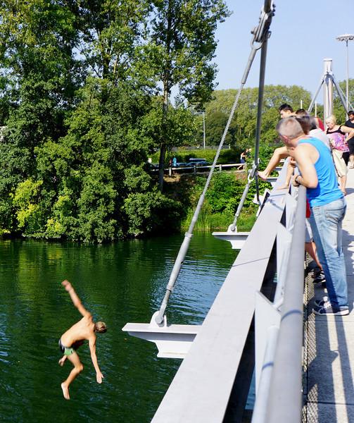 udspring fra broen ved slusen