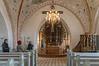 Graveren Svend-Erik Kristensen fortalte om kirken, sognet nu og viste os billeder i sognegården