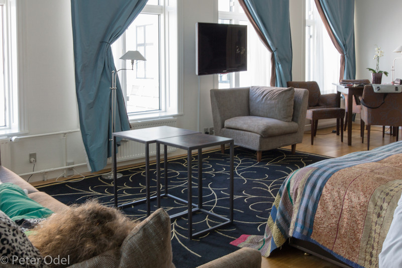 Vi fik en suite på hotel Kong Arthur
