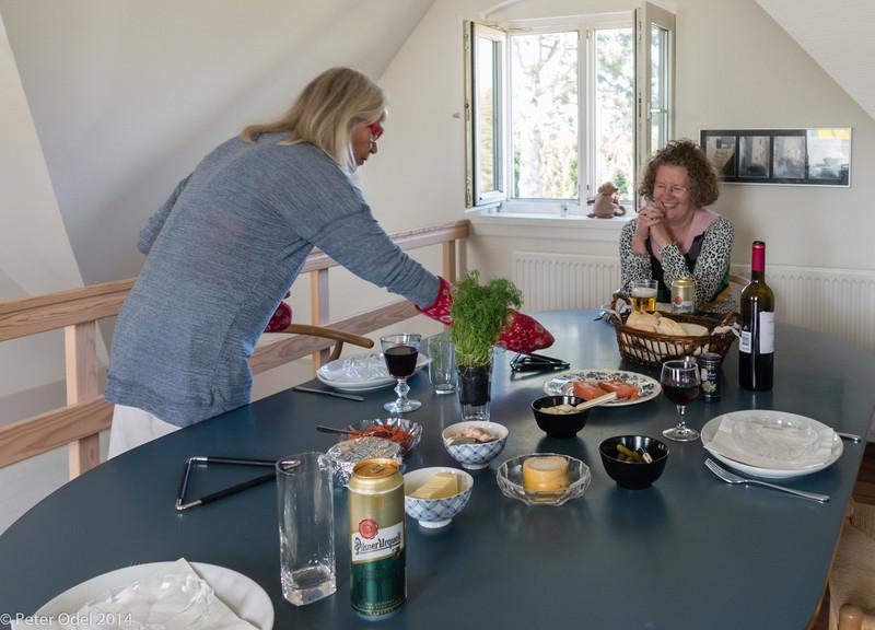 frokost hos Esther og Jesper i deres nye lejlighed uden for Roskilde
