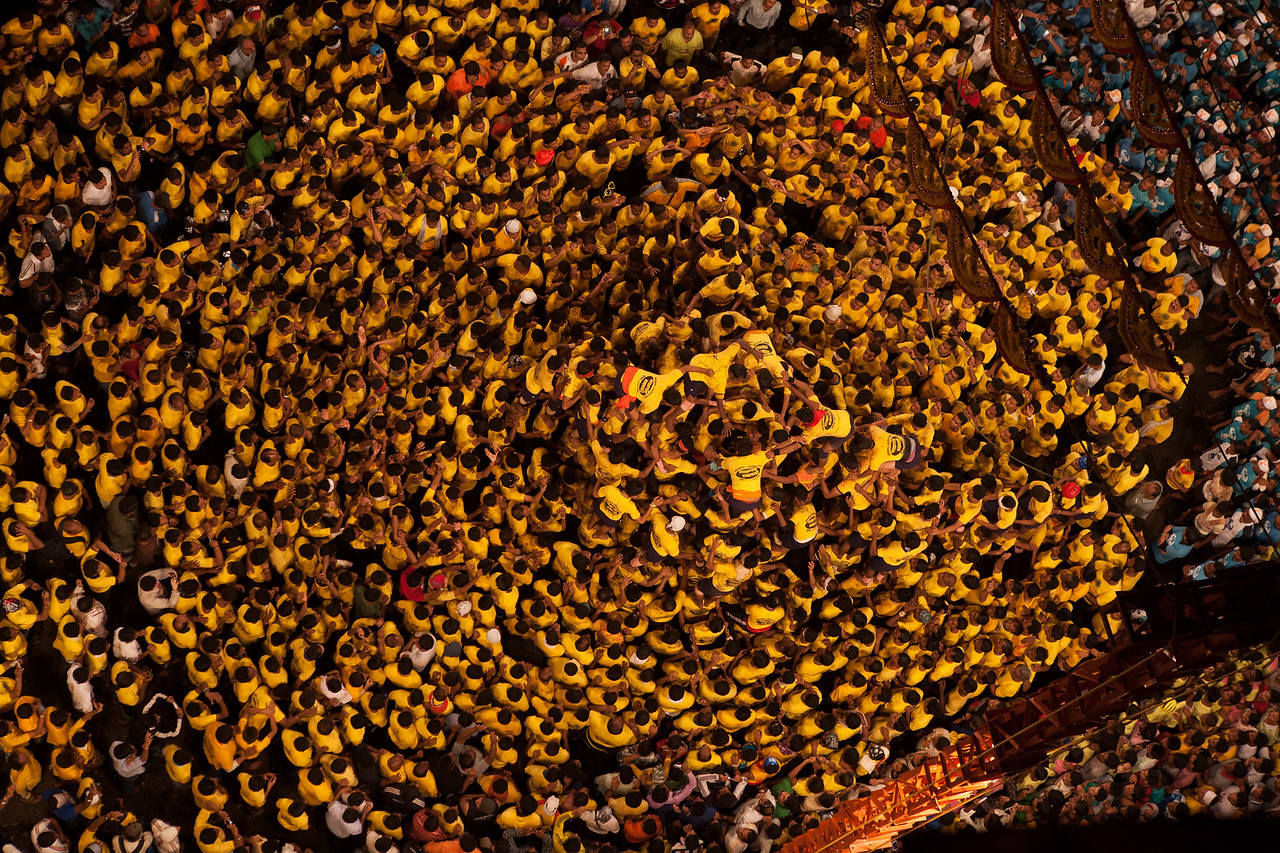 Level by level, to the top at Dahi Handi in Thane, India