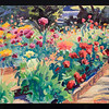 "Dahlia Farm, 12x16"", oil on canvas, 2011"