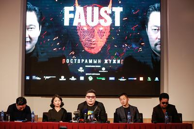 """2020 оны аравдугаар сарын 21. """"Альфа"""" театрын нээлт болон """"Фауст"""" жүжгийн талаар мэдээлэл хийлээ. ГЭРЭЛ ЗУРГИЙГ Г.ӨНӨБОЛД/МРА"""