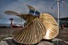 Functional art - commemorative brass marine propeller