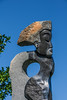 Detail, 'Sekuru' - Respected Elder by Collen Nyanhongo; head and shoulders