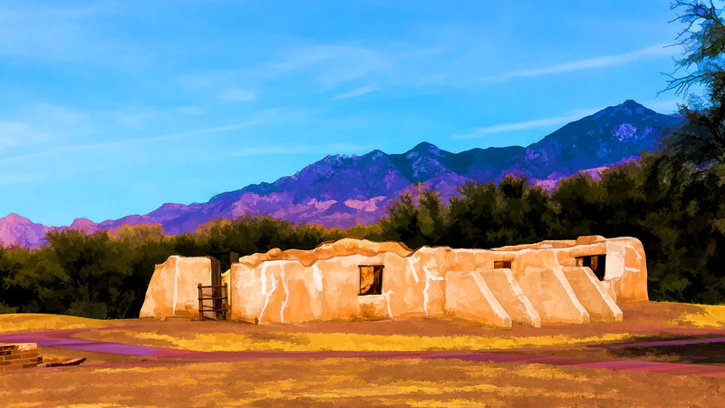 Featured:  From the grounds of Mission San José deTumacácori - filtered