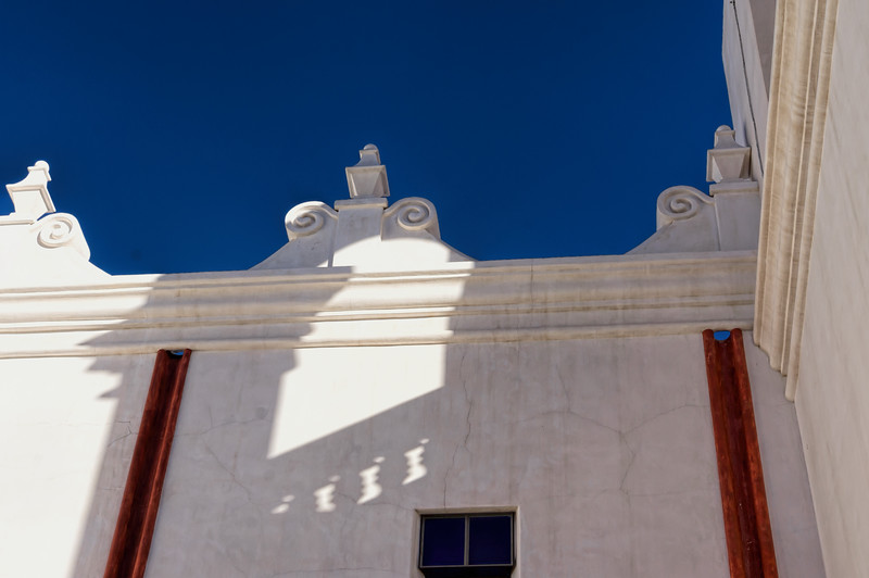 Featured:  Truncated shadows, Mission San Xavier del Bac