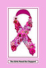 Pink Floral Offering in Recognition of Breast Cancer Awareness Month