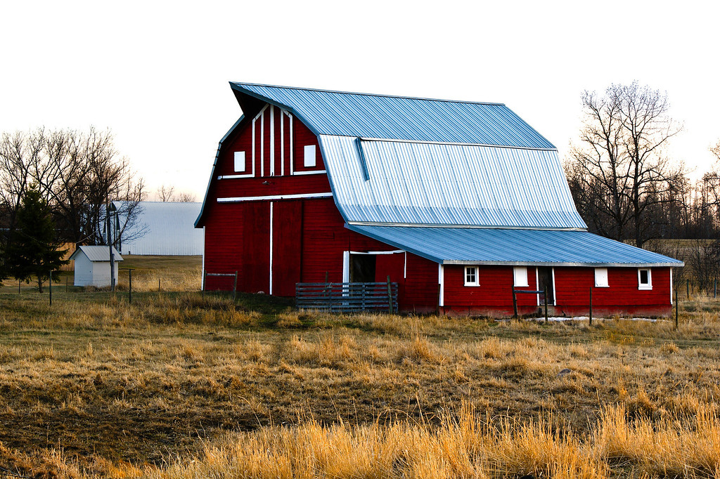 2041810 225/365 Apr 18/10<br /> <br /> This barn is not on the highway, but just down my road 1/2 mile.  Not one of the largest, but extremely well taken care of.<br /> <br /> Thanks for all your comments on this series.  I've lived in this area for so many years the barns have become very common.  To me it's always amazing to see the flowers and landscapes of those who live in different areas and I have not really taken the time to see what's around me.  Thanks to the dailies, I have been forced to take a look around and see the beauty of my surroundings.<br /> <br /> Just a note about yesterday's barn.  This was taken 15 minutes before sunset, with the sunlight filtered through the trees.  The photo is the actual color of the barn.  My usual pp was done to this, increasing the contrast and adjusting the curves.