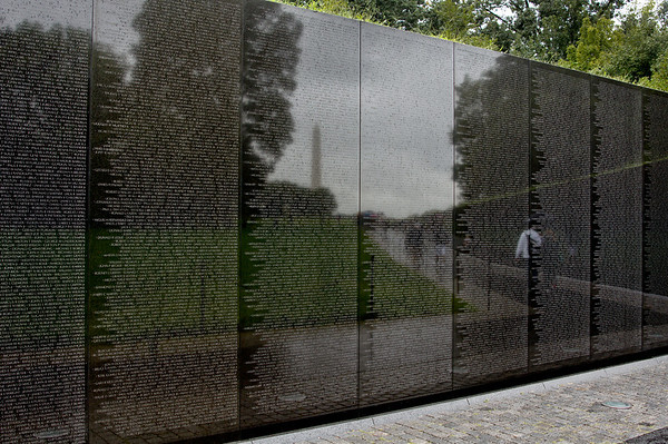218 Sep 7/11 Vietnam Veterans Memorial.  Spent the day walking around the memorials here in DC.  I must say that it was pretty hard to choose a daily as it was difficult to get a bad shot at any of the memorials.<br /> <br /> On a different note, today is the second anniversary of my sometimes dailies.