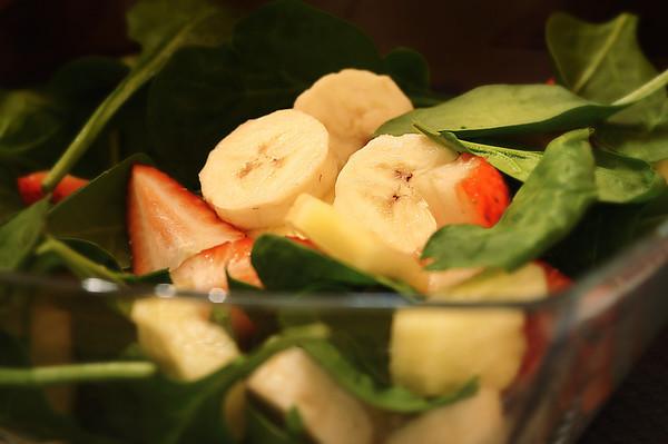 051 Feb 18/11 Breakfast.  Add yogurt and blend until smooth.