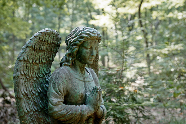 229 Sep 19/11 Angel statue at the Harrisonburg, VA arboretum.