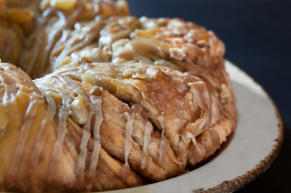 076 Mar 18/11 Maple Walnut Danish Ring I photographed for my PPSOP food photography course.  This took me three days to photograph, taking pictures from every conceivable angle with every lens I owned that it was so dried up at the end I never did get to taste it.
