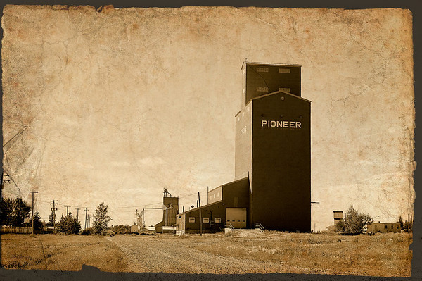 212 Aug 30/11 Grain Elevator on the prairies