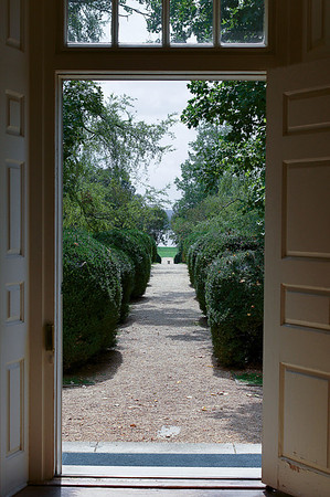 "218 Sep 6/11 Looking through the front door, James River side at the Berkeley Plantation, where the first official Thanksgiving was held on December 4, 1619.<br /> <br /> Very interesting piece of American history <a href=""http://en.wikipedia.org/wiki/Berkeley_Plantation"">http://en.wikipedia.org/wiki/Berkeley_Plantation</a>"