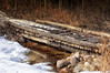 079 March 20/12  A little bridge, not too far from our house, on private land used by snowmobiles and/or ATV's.
