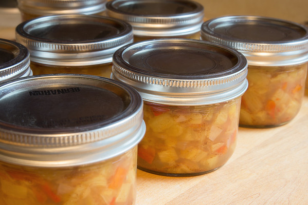 125 Sep 2/12 Pineapple Chutney ready for the pantry.<br /> <br /> Critique always welcome.