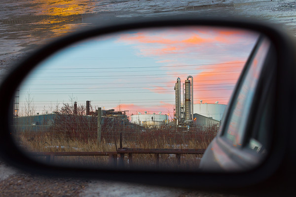 014 Jan 14/12 Sunset in the mirror.