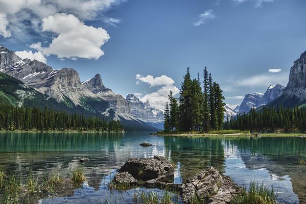 2015-06-26 The iconic Spirit Island in Maligne Lake in Jasper, Alberta.