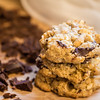 02-22-15 A cookie stilllife.  These oatmeal, cashew, coconut and chocolate chunk cookies were so good I really feel a need to bake some more.