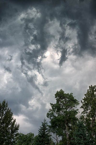 Aug 7 2014  Storm clouds from last night.  A little more show than storm.