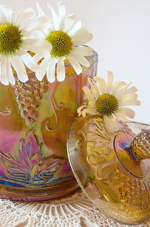 """196 Jul 28/13 """"C"""" is for Carnival Glass Canister"""