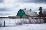 110 Apr 20/13 I had said that yesterday's barn was  my favorite barn to shoot on the way to the city, but this is my favorite barn on the south side of the highway.  Yesterday's was on the n ...