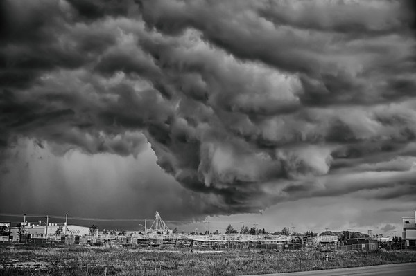 164 Jun13/13 Drama in the skies over Leduc yesterday at work.