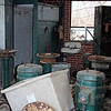 March12. We found this old storage building crowded with all sorts of old rusty equipment including a sink and a locker cabinet. Springfield Hospital.