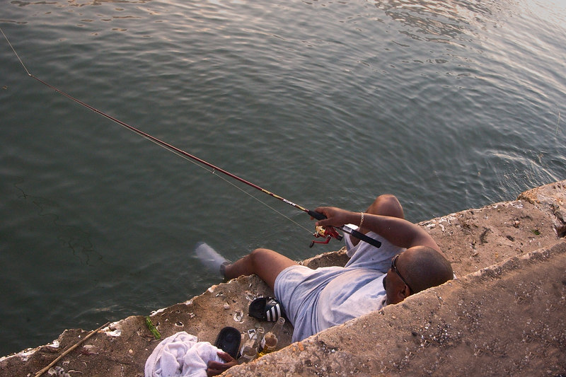 Livin' Easy<br /> Fishin' cool<br /> If the bait don't get them,<br /> <br /> the sock might!