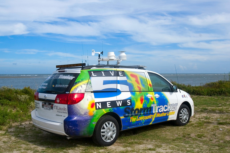 "Have Storm Car, will find storm.......Live 5 News, Charleston's CBS affiliate (SC).<br /> 8/30/2006<br /> <br /> (I heard them report that the ""storm"" would get worse!)<br /> <br /> Hey, I found the Storm Car!"