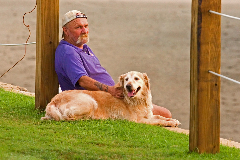 A Nice Guy!  Used to live on the Outer Banks, Rodanthe.  Had swans nesting in his back yard.  <br /> Now he lives just a couple blocks from the Pitt Street Bridge.  He and his dog: cool people!