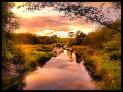 Sunset on the Nemasket River, Middleboro, Ma