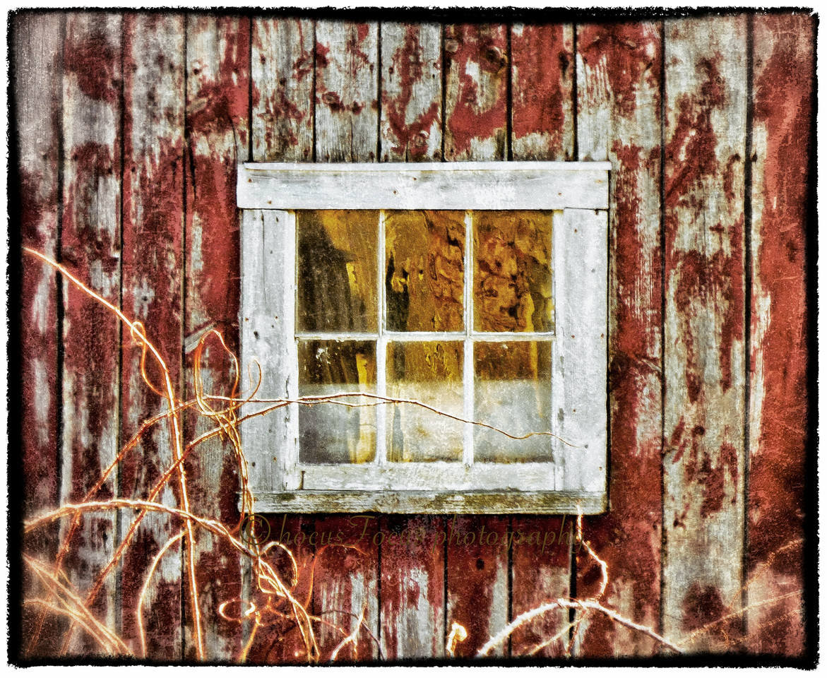 Thompson Street Barn<br /> Middleboro, Ma<br /> <br /> Well, I'm all moved into my new place now and finally getting out there with my camera again. Moving is exhausting and I hope it'll be a long time until I have to do it again. I've missed shooting, processing, posting and commenting. I'm back! <br /> <br /> I went out for sunrise for the first time since the moving process began. I went down a pretty country road that I often drive on my way to one of my jobs. It has lots of cow farms and old barns. The yellow in the window is the reflection of a tree illuminated in the early morning light.
