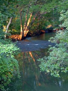 The Taunton River at sunset