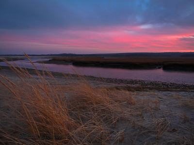 I went down the Cape to the Sandwich Boardwalk for some late afternoon light yesterday and ended up shooting right through a gorgeous sunset. The sky in this image isn't even the nice sky!
