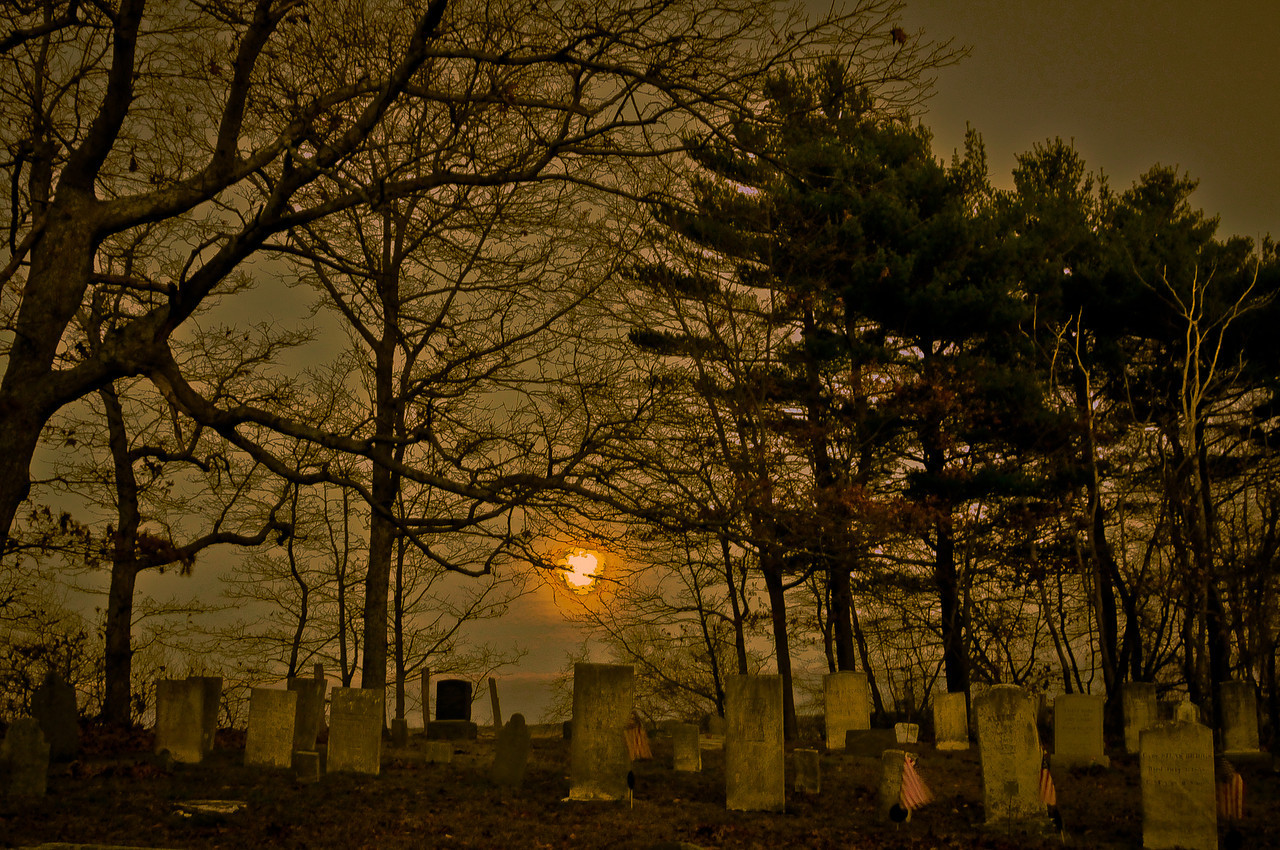 "Full moon rising over Assawompsett Pond<br /> When I was trying to turn the doll picture (my daily from a few days ago) into a ""creepy doll"" picture, I played with a few images trying to determine what exactly it is that makes an image take on that creep factor. This is one of the images I played with. I ended up kind of liking it. I'm not making out very well with the dolls. Little brats. They're turning out to be a problem. I'm going to to have to drag them into PS for a layer treatment. Talk about procrastination. Layers are not my friend, nor is PS, for that matter."