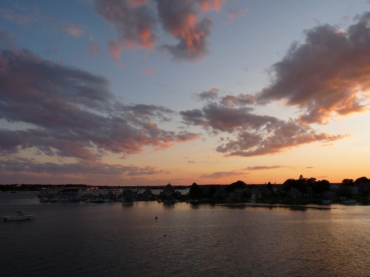 July 6, 2009<br /> Sunset over Wesport Harbor
