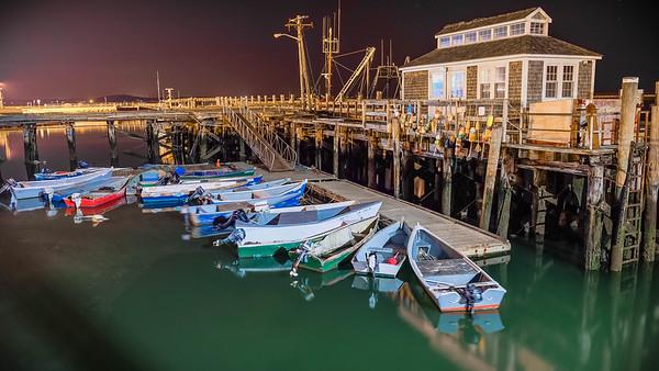 Plymouth Inner Harbor at Night