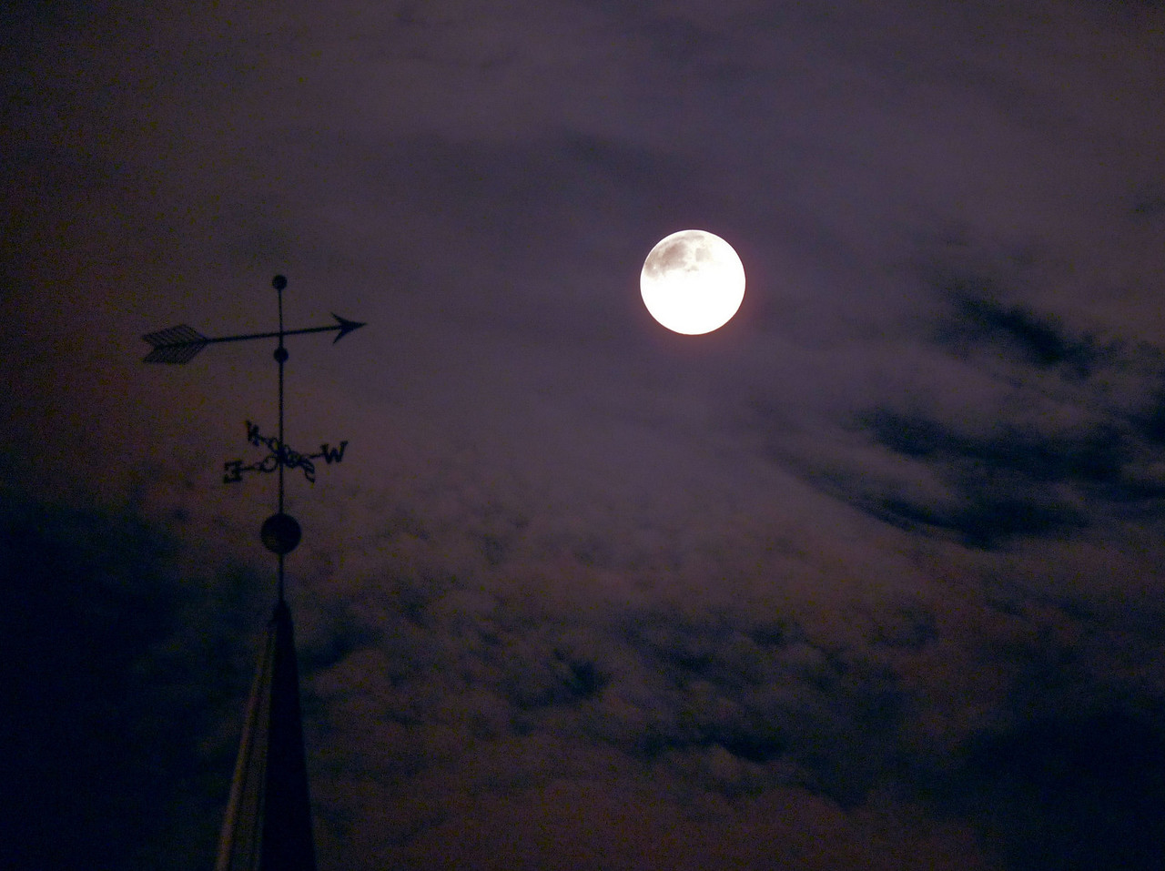 August 6, 2009<br /> Weathervane on church steeple<br />  ....shoot for the moon!