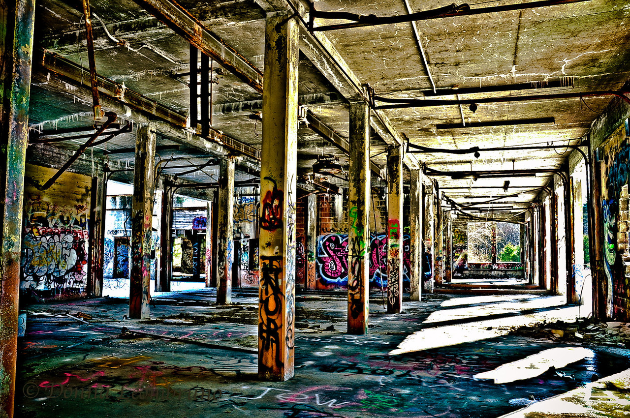 "Yesterday, I went to an on-location photo workshop, entitled ""HDR and the Pig"". It was a blast. No pun intended as it was an abandoned Army ammunition factory. I hadn't shot for or merged anything for HDR since I went Mac a year and a half ago and lost my windows-only, Corel paint shop pro. I just realized that in Lightroom, you can merge and send to Photoshop! Learn something new everyday! Boy did that make things easier."