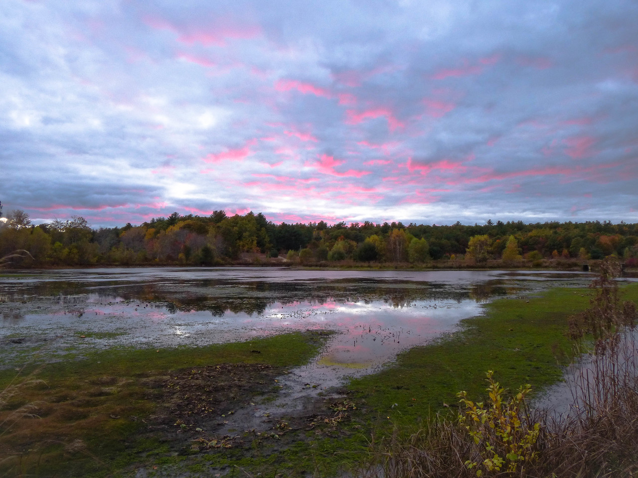 Sunset at Tubb Meadow Nature Preserve<br /> Pembroke, Ma