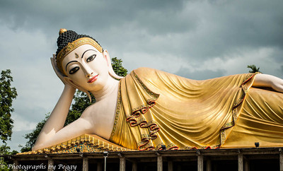 """The Buddha Third Eye in Thailand  Located in Northern Thailand, The Budda was constructed in the Burmese Style.  The Third Eye is a symbolic """"eye"""" (in the center of the forehead) on Buddha figures, used to indicate the Buddha's all-seeing wisdom and perception."""