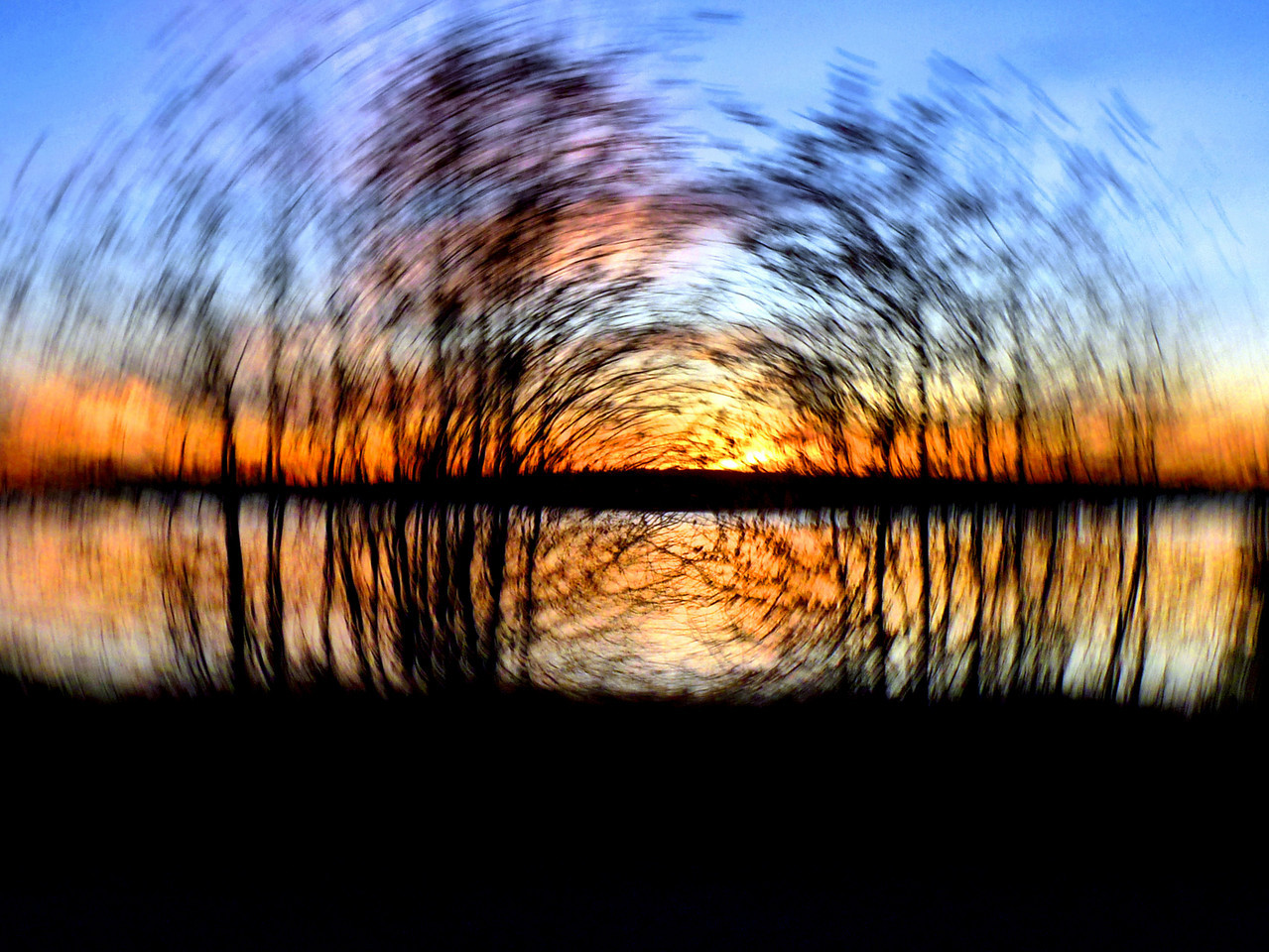 Quitticas sunset with an in-camera spin.