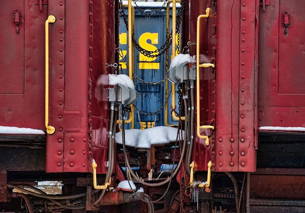 Mar 8 - Between Train Cars<br /> <br /> Thanks for all your comments on the barn in the snow image yesterday!