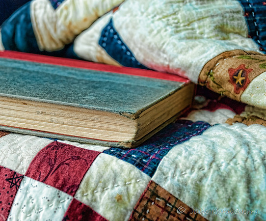 Mar 5 - Love to curl up with a warm quilt and an old book on a cold evening.
